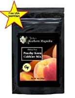 Gluten Free Peach Cobbler Mix 9oz Bag by Julia's Southern Foods, LLC