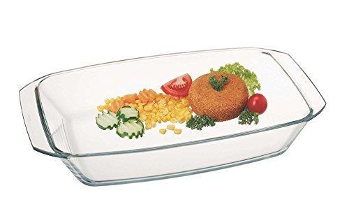 Simax Glassware 7266 Rectangular Roaster Pan, 3-Quart by Simax Glassware