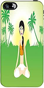 Snoogg Female Doing Yoga On Green Invirement Designer Protective Back Case Co...
