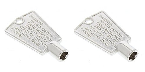 Pack of 2 Refrigerator Freezer Door Metal Key Cross Pattern (+ 'Plus' Shape) New OEM Frigidaire
