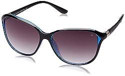 UCB Gradient Square Women's Sunglasses (BES968SI1SG 57 Grey Gradient lens)