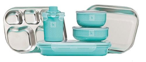 Kangovou Kids 9 Piece Dishware Set (Iced Mint)
