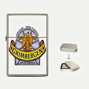 grimbergen beer Flip Top Lighter and Case Box