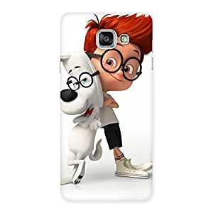 Boy and Spec Dog Multicolor Back Case Cover for Galaxy A7 2016