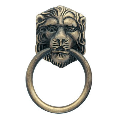 Amerock Bp888-Abs Pull Lion Head Ring Antique Brass (Brass Ring Drawer Pulls compare prices)