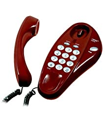 Orpat 1500-EE Corded Landline Phone (Red)
