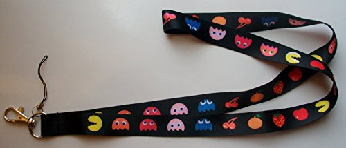 Namco Pacman ID Badge Key Cell Phone Holder LANYARD - 1