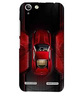 PrintDhaba RED CAR D-6159 Back Case Cover for LENOVO VIBE K5 PLUS (Multi-Coloured)