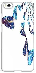 Snoogg Kaleidoscopic Butterflies Designer Protective Back Case Cover For Xiao...