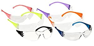 Pyramex S4110SMP Adult Safety Glasses Intruder Clear Lens (12 Pack), Multi Color