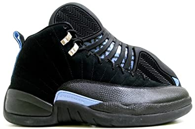 Amazon.com: Nike Air Jordan 12 Retro XII Black/Blue Mens Basketball Shoes 130690-018: Shoes