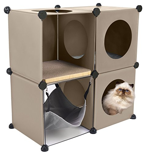 Cats in Cubes - Modular Cat Condo Furniture - DIY Tree
