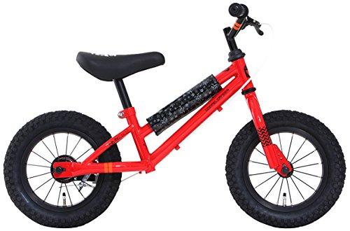 DOPPELGANGER(ドッペルギャンガー) DX12-RD DUB STACKシリーズ 12インチ キッズバイク レッド [対象年齢:2歳以上 20kg以下] 適応身長目安:95~110cm ハンドル高調整可能なハンドル一体型ステム リアブレーキ標準装備・フレームパッド付属 選べる全5色