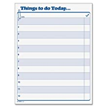TOPS Daily Agenda, 8.5 x 11 Inches, 100-Sheet Pad (2170)