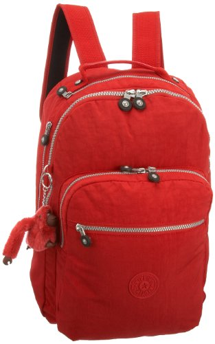 Kipling Women's Seoul Large Backpack with Laptop Protection and Padded Shoulder Straps Red