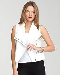 Asymmetric Leatherette Vest