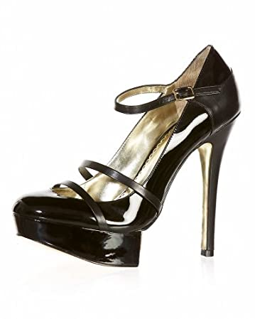 bebe.com London Mary Jane Platform Pump :  pumps platforms metallic sole patent leather