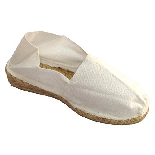Sparto espadrille basso cuneo Made in Spain bianco taille 37