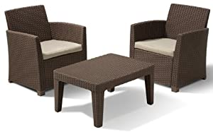 Allibert 212452 Corona Balcony Salon De Jardin D Tente Avec 2 Fauteuils Et 1 Table Basse En