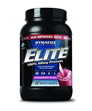 Dymatize Nutrition Elite Whey Protein Powder, Berry Blast, 2.05 Pound by Dymatize