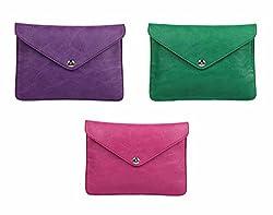 Oleva Ladies Clutch Bags combo set of 3 Slim bags ODC-012