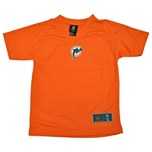 NFL Miami Dolphins Fins Youth Kids Orange VNeck Football Tshirt Tee Shirt by NFL Team Apparel