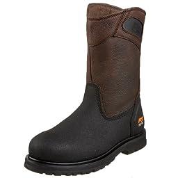 Timberland PRO Men\'s 53522 Powerwelt Wellington Boot,Rancher Brown,7 W