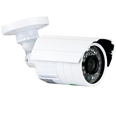GW Security Bullet Security Camera Outdoor Indoor Day Night Vision IR Infrared LED Home CCTV Surveillance with Free Supply Adapter