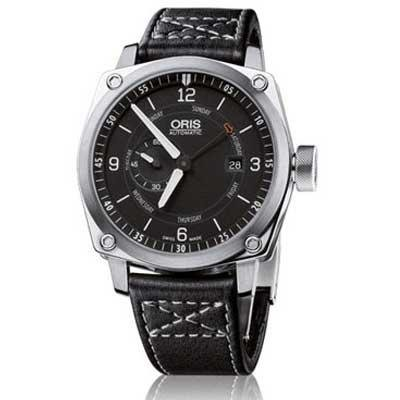 Oris Men's 01 645 7617 4174 07 5 22 58FC BC4 Small Second Black Dial Watch