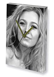 BLAKE LIVELY - Canvas Clock (LARGE A3 - Signed by the Artist) #js001