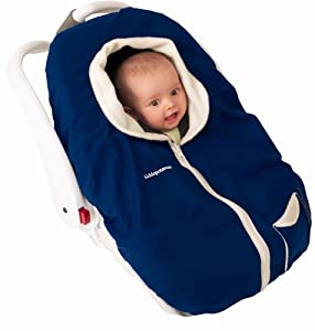 Kiddopotamus CozyUp Carrier Cover, Navy & Ivory