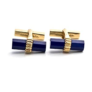 Tiffany & Co. Lapiz Lazuli 18K Gold Cuff Links