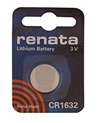 Renata Swiss Made CR1632 3V Lithium Button Coin Cell Battery (2 Pieces)