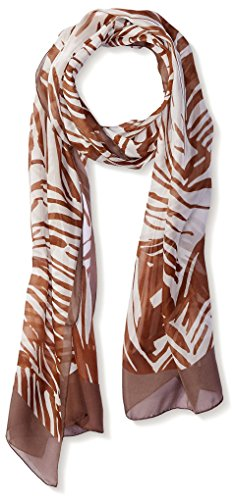 Salvatore-Ferragamo-Womens-Patterned-Silk-Scarf-BrownWhite
