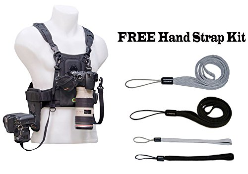 Cotton Carrier Professional Vest System For 1 Or 2 D-Slr Camera'S Like The Canon Eos Rebel T5, T5I, T3, T3I, T4, T4I, T2I, T1I, Eos 1D Mark Iii, 1D Mark Iv, 1Ds Mark Ii, 7D Mark Ii, Sl1, 5D, 7D, 10D, 20D, 30D, 40D, 50D, 60D, 70D, Xs, Xsi, 6D, 1D, Xt, Xti