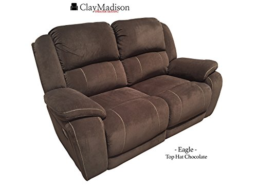 Clay Madison Row of 2 Sofa Style Loveseat - RV Wall Hugger, Eagle, Top Hat Chocolate (Rv Sofas compare prices)
