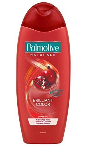 Palmolive Naturals, Brilliant Color Shampoo, 350 ml, con estratti di melograno, pera e mandorla [1 pezzo]