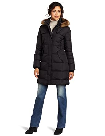 Tommy Hilfiger Women's Warm Down-Filled Coat, Black, Medium