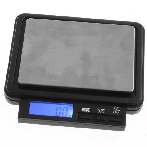 TOOGOO(R) 0.1g-2000g Balance electronique en LCD numerique noir avec etui en cuir