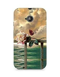 Amez designer printed 3d premium high quality back case cover for Motorola Moto E2 (Flower Painting)