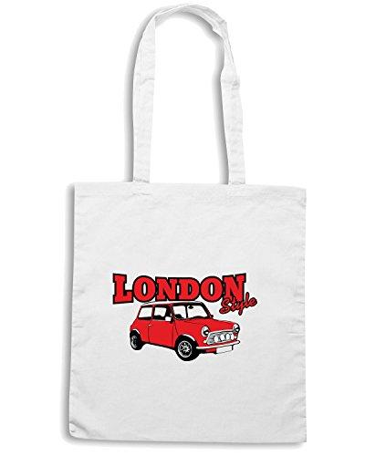 Cotton Island - Borsa Shopping T0159 LONDON STYLE mini cooper auto moto motori, Taglia Capacita 10 litri