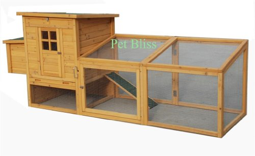 8FT CHICKEN COOP DUCK HEN POULTRY ARK HOUSE HUTCH Run COUP,+ Nest, PULL OUT Tray