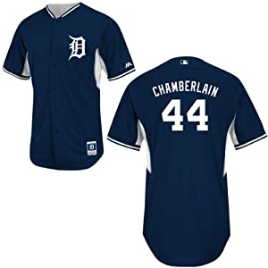 Joba Chamberlain Detroit Tigers Home Batting Practice Jersey by Majestic by Majestic