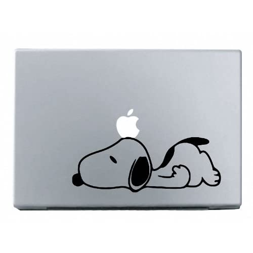 Amazon.com: Snoopy Sad MacBook Decal Mac Apple skin sticker