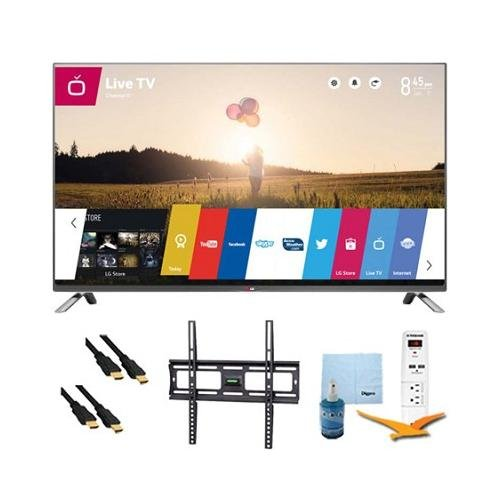 """42"""" 1080P 120Hz Led Smart Hdtv With Webos Plus Mount & Hook-Up Bundle (42Lb6300). Bundle Includes Tv, Flat Tv Mount, 3 Outlet Surge Protector W/ 2 Usb Ports, 2 -6 Ft High Speed Hdmi Cables, Performance Tv/Lcd Screen Cleaning Kit, And Cleaning Cloth."""