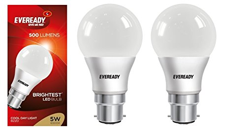 5W Cool Day Light 500 Lumens LED Bulb (Pack of 2)