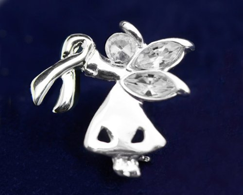 Silver Ribbon Pin-Angel By My Side (27 Pins)