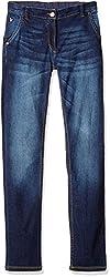 US Polo Girls' Jeans (UTJN5030_Dark Blue_EL )