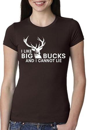 Big Bucks T Shirt Funny Hunting Deer Hunters Tee For Women: Clothing