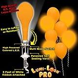 Lumi-Loons Balloon Lights Orange Balloons White Lights - 10 Pack